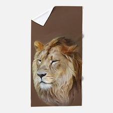 Painting Lion Beach Towel