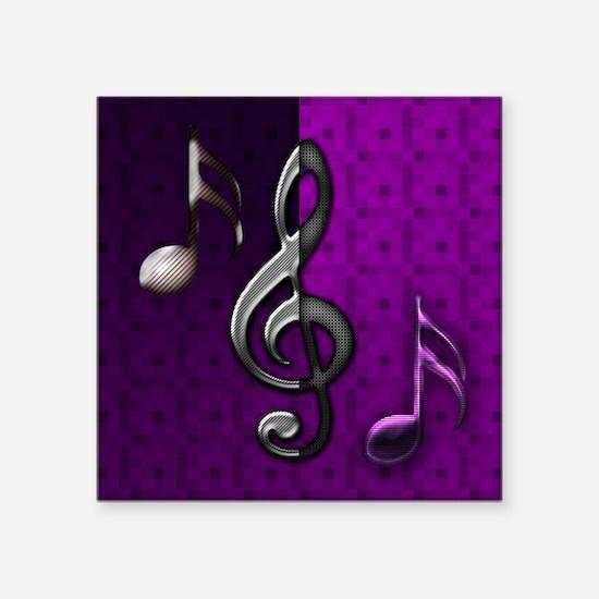 "Notes clef de Sol by Bluesa Square Sticker 3"" x 3"""