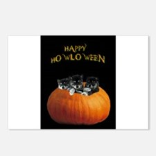 Cute Halloween puppies Postcards (Package of 8)