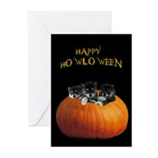 Cute Halloween puppies Greeting Cards (Pk of 10)