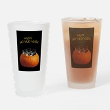 Cute Halloween puppies Drinking Glass