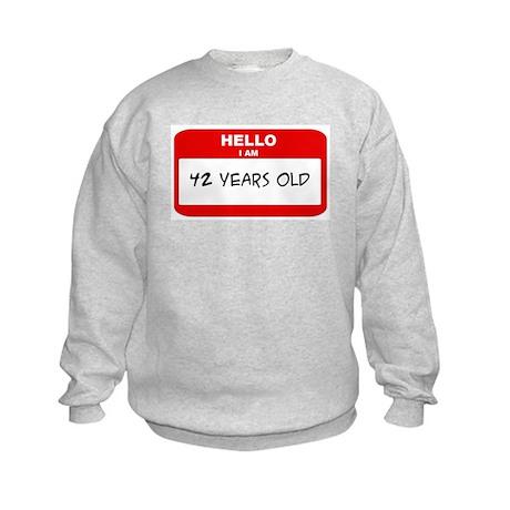 I am 42 Years Old years old ( Kids Sweatshirt