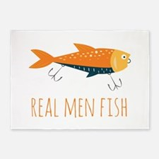 Real Men Fish 5'x7'Area Rug