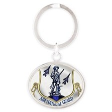 Cute Air national guard shield Oval Keychain