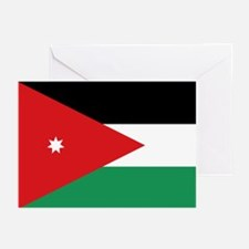 Flag of Jordan Greeting Cards (Pk of 10)