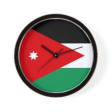Flag of Jordan Wall Clock