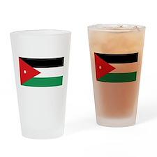 Flag of Jordan Drinking Glass