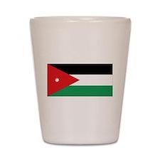 Flag of Jordan Shot Glass