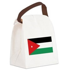 Flag of Jordan Canvas Lunch Bag