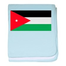 Flag of Jordan baby blanket