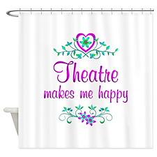 Theatre Happy Shower Curtain