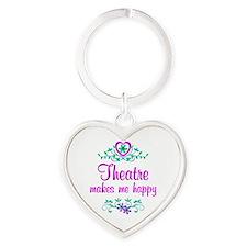 Theatre Happy Heart Keychain