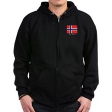 Unique Norwegian Zip Hoodie