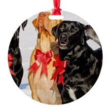 Christmas Bow Dogs!  Ornament