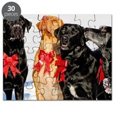 Christmas Bow Dogs!  Puzzle