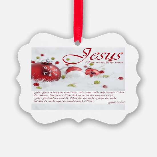 Jesus Is The Reason For Season Ornament