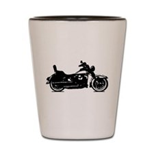 Motorcycle Shadow Shot Glass