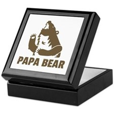 Cool Fierce Brown Papa Bear Daddy Keepsake Box
