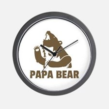 Cool Fierce Brown Papa Bear Daddy Wall Clock
