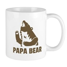 Cool Fierce Brown Papa Bear Daddy Mugs