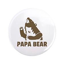 "Cool Fierce Brown Papa Bear Daddy 3.5"" Button"