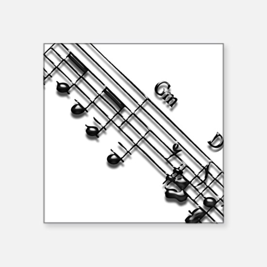 "Score 4 by Bluesax Square Sticker 3"" x 3"""