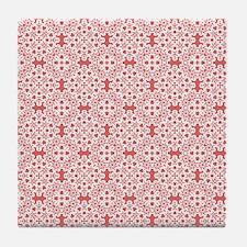Cayenne & White Lace 2 Tile Coaster