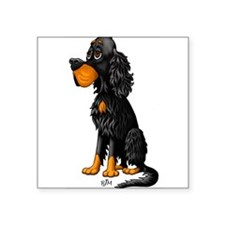 "Cute Gordon setter Square Sticker 3"" x 3"""