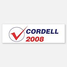 CORDELL 2008 (checkbox) Bumper Bumper Bumper Sticker