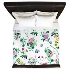 Pretty Floral Art King Duvet