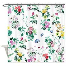 Pretty Floral Art Shower Curtain