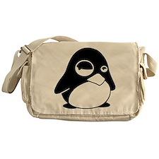 Unimpressed Penguin Messenger Bag