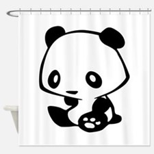 Kawaii Panda Shower Curtain