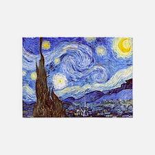Starry Night Van Gogh 5'x7'Area Rug