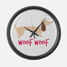 Woof Woof Large Wall Clock