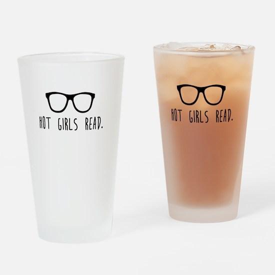 Hot Girls Read Drinking Glass