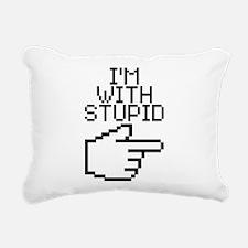 I'm with stupid Rectangular Canvas Pillow