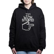 Im With Stupid Women's Hooded Sweatshirt