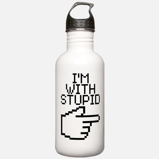 Im With Stupid Water Bottle