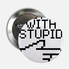 "Im With Stupid 2.25"" Button (10 pack)"