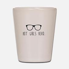 Hot Girls Read Shot Glass