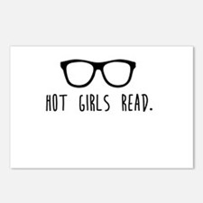 Hot Girls Read Postcards (Package of 8)
