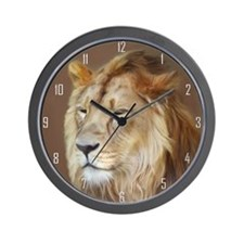Painting Lion Wall Clock