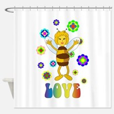 Love Bee Shower Curtain