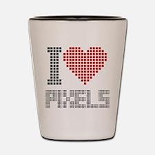 Love Pixels Shot Glass