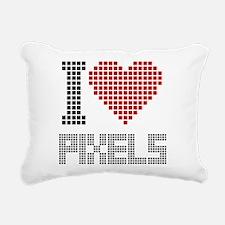 Love Pixels Rectangular Canvas Pillow