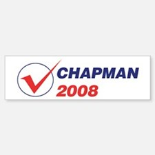 CHAPMAN 2008 (checkbox) Bumper Bumper Bumper Sticker
