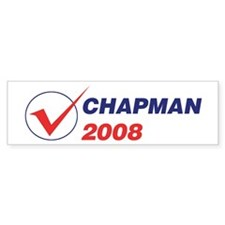 CHAPMAN 2008 (checkbox) Bumper Bumper Sticker