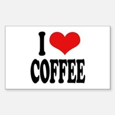 I Love Coffee Rectangle Bumper Stickers