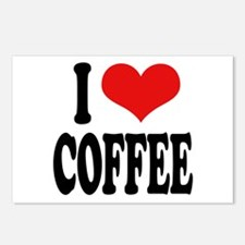 I Love Coffee Postcards (Package of 8)